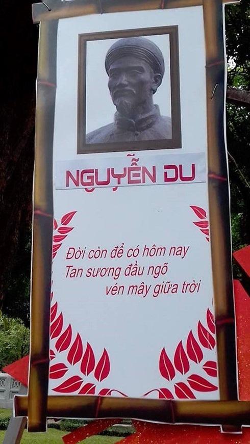 Thơ của đại thi hào Nguyễn Du cũng bị in sai. Ảnh: KMS.