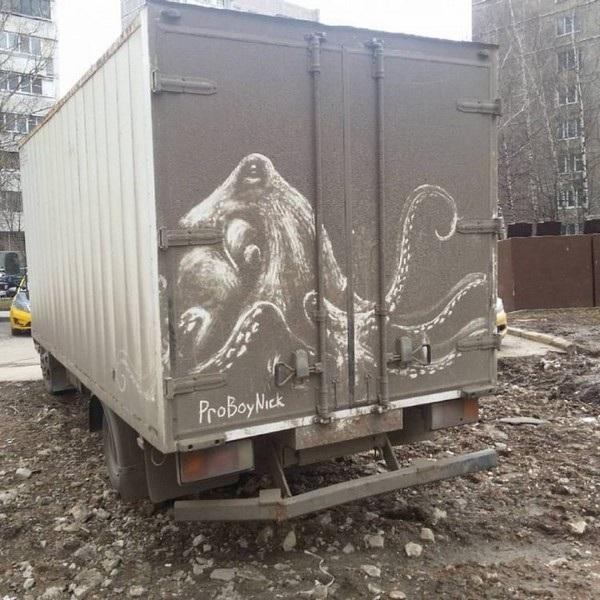 Nghệ sĩ biến những chiếc xe phủ bụi thành tác phẩm nghệ thuật - 3