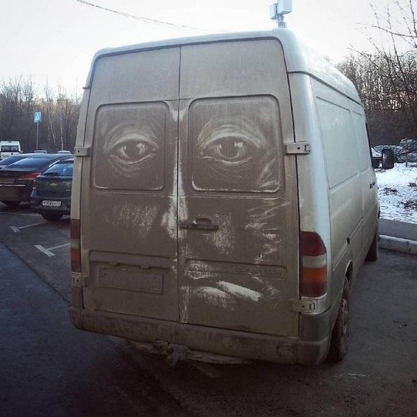 Nghệ sĩ biến những chiếc xe phủ bụi thành tác phẩm nghệ thuật - 4