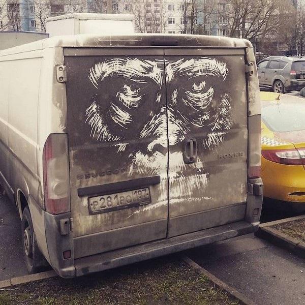 Nghệ sĩ biến những chiếc xe phủ bụi thành tác phẩm nghệ thuật - 7