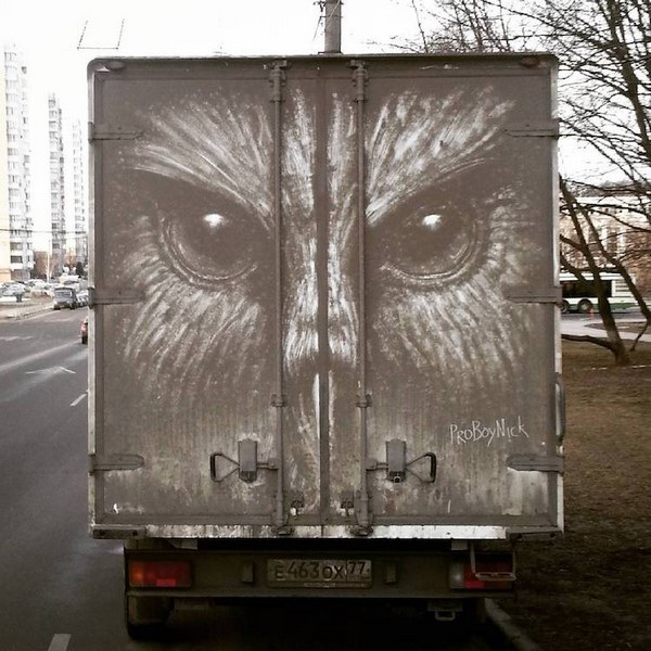 Nghệ sĩ biến những chiếc xe phủ bụi thành tác phẩm nghệ thuật - 8