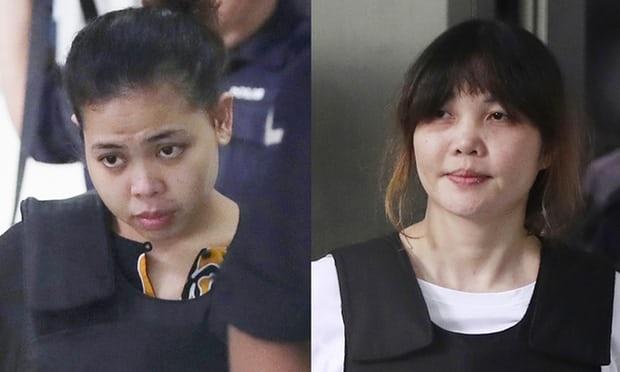 Nghi phạm Đoàn Thị Hương (phải) và nghi phạm Indonesia Siti Aishah (Ảnh: Getty)