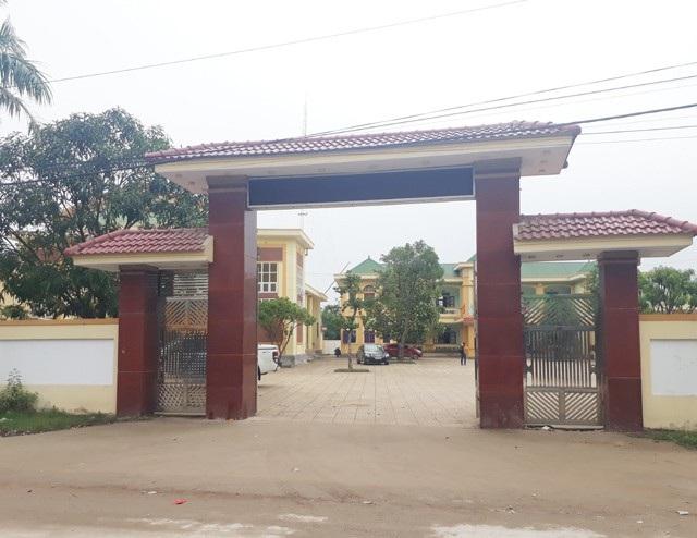 Trụ sở UBND xã Nghi Quang, nơi xảy ra sự việc Trưởng Công an xã dùng súng bắn Chủ tịch xã