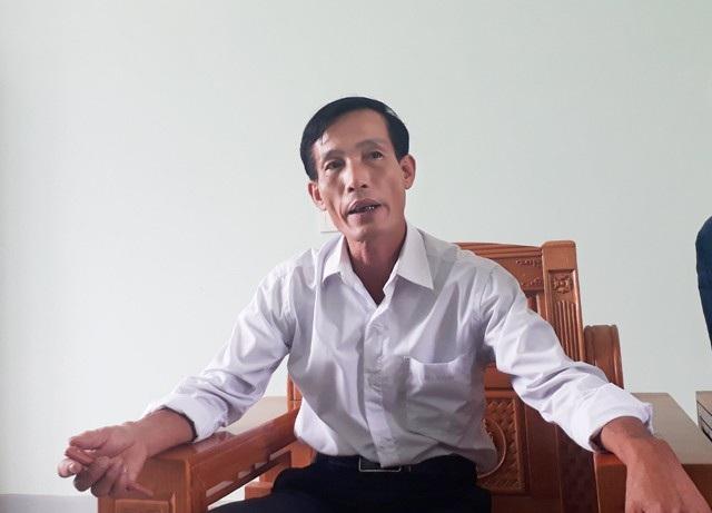 Ông Nguyễn Đình Tiến - Bí thư Đảng ủy xã Nghi Quang thông tin sự việc với phóng viên