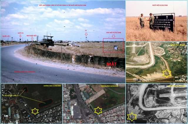 Một số hình ảnh về vị trí nghi có mộ tập thể liệt sĩ ở phía Tây sân bay Tân Sơn Nhất