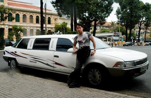 Chiếc xe Cadillac lừng lẫy một thời của Ngọc Sơn từng khiến người ta sững sờ vì độ xa hoa.