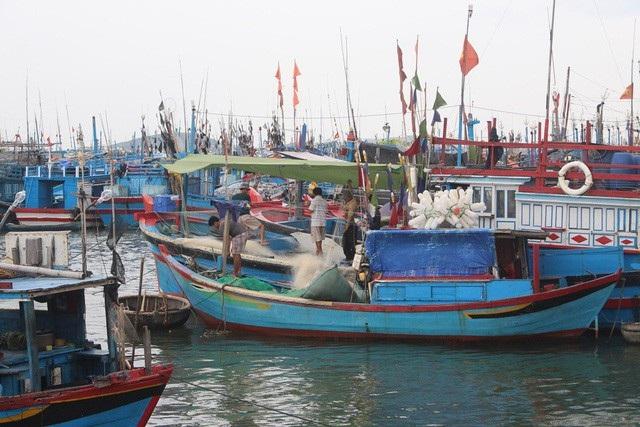 Ngư dân tỉnh Khánh Hòa thu dọn ngư lưới cụ trước cơn bão đổ bộ. (Ảnh: Viết Hảo).