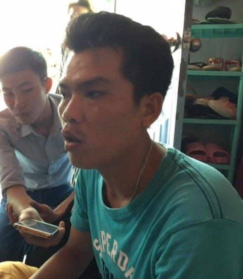 Anh Nguyễn Văn Hòa - cha ruột bé T. - không lí giải được vì sao các vết bỏng trên người cháu T. to và dài, không giống những vết dầu mỡ văng vào người.