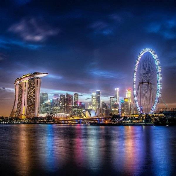 Hình ảnh về đêm tại Singapore