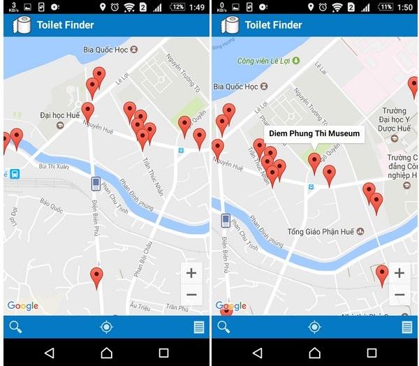 Ứng dụng giúp tìm kiếm nhà vệ sinh công cộng tại Việt Nam - 2