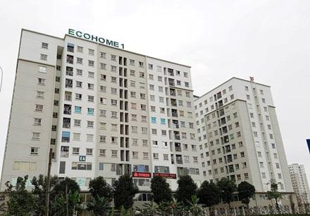 Khu nhà ở xã hội Ecohome 1 nơi ông Thọ đăng ký địa chỉ và hiện đang sinh sống cùng gia đình.