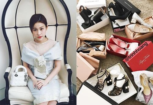 Trinh Hoàng là cô gái nghiện son và giày dép