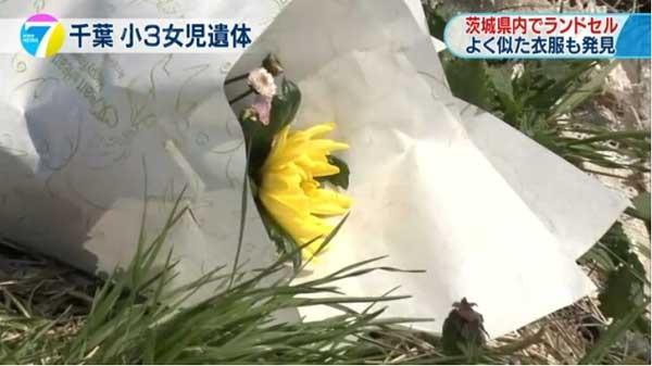 Thi thể bé Linh được tìm thấy ở bờ mương thuộc thành phố Abiko, tỉnh Chiba của Nhật Bản sáng 26/3. (Ảnh: NHK)