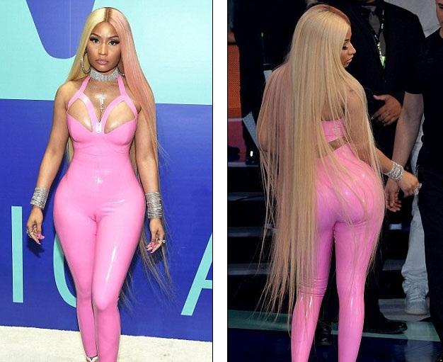 """Nicki Minaj """"bóp nghẹt"""" cơ thể với đồ chất liệu nhựa dẻo - 8"""