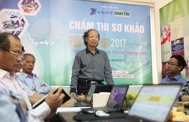 Nhà báo Phạm Huy Hoàn - Trưởng ban tổ chức Giải thưởng mong muốn Hội đồng chấm thi sơ khảo ở lĩnh vực CNTT làm việc công tâm, lựa chọn được sản phẩm xứng đáng đưa vào vòng chung khảo.
