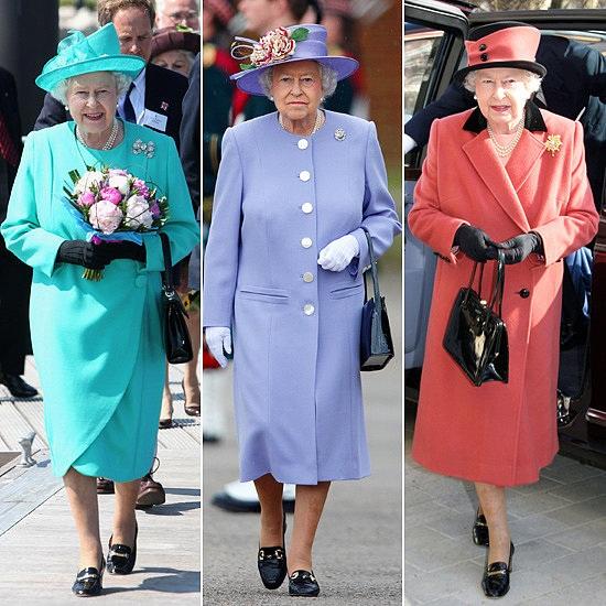 Nữ hoàng có một bộ sưu tập hàng trăm chiếc túi xách đủ màu, đủ kiểu dáng.