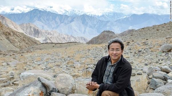 Kỹ sư Sonam Wangchuk – chủ nhân của ý tưởng xây dựng tháp băng nhân tạo.