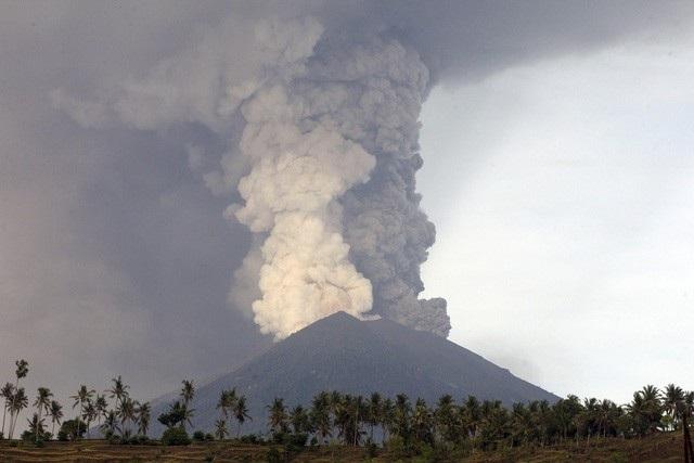 Núi lửa hoạt động tại Indonesia (ảnh: CT)