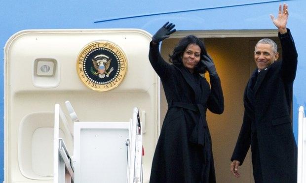 Vợ chồng Tổng thống Obama (Ảnh: AP)