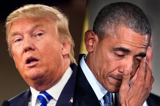 Tổng thống Mỹ sắp mãn nhiệm Barack Obama (phải) và Tổng thống đắc cử Donald Trump. (Ảnh: Getty)