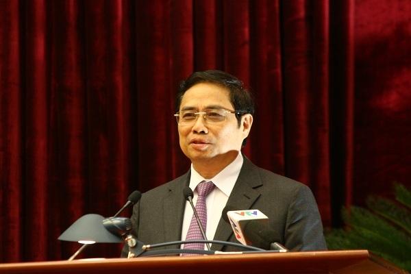 Trưởng Ban Tổ chức Trung ương Phạm Minh Chính.