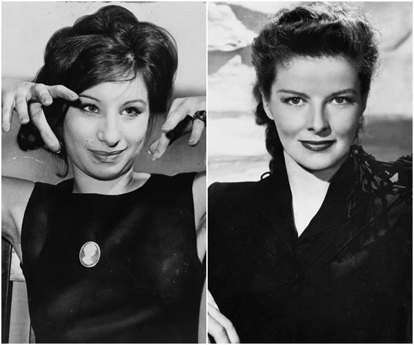 Hai nữ diễn viên - Barbra Streisand (trái) và Katharine Hepburn (phải)