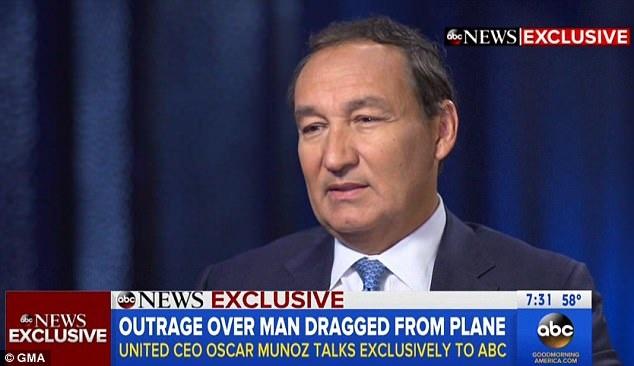 Ông Oscar Munoz trong cuộc phỏng vấn với ABC sáng ngày 12/4 (Ảnh: GMA)