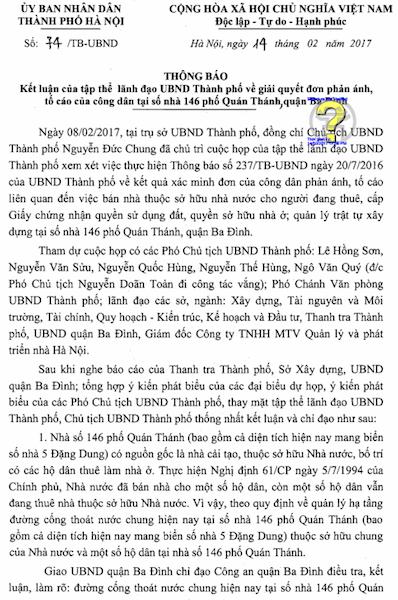 """Cư dân 146 Quán Thánh ngóng được """"giải cứu"""" sau chỉ đạo của Chủ tịch TP Hà Nội - 1"""
