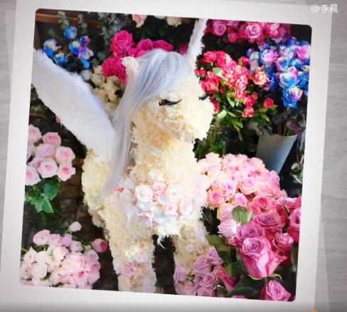 Lý Thần gửi hoa tặng bạn gái nhân dịp lễ tình nhân năm nay. Cặp đôi hò hẹn được hơn 2 năm và lúc nào cũng quấn quýt, tình cảm.