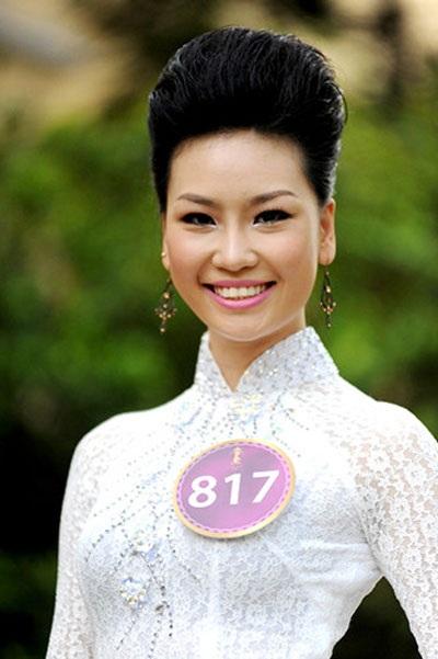Người đẹp Phạm Thị Thùy Linh tại cuộc thi Hoa hậu Thế giới người Việt 2010.