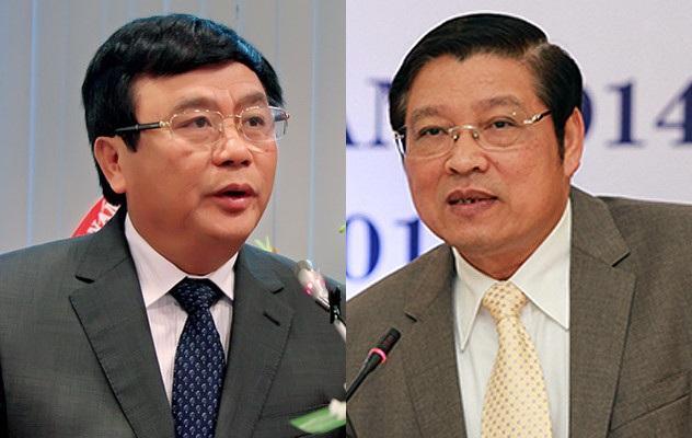 Ông Nguyễn Xuân Thắng (trái) và Phan Đình Trạc được bầu bổ sung vào Ban Bí thư Trung ương Đảng.
