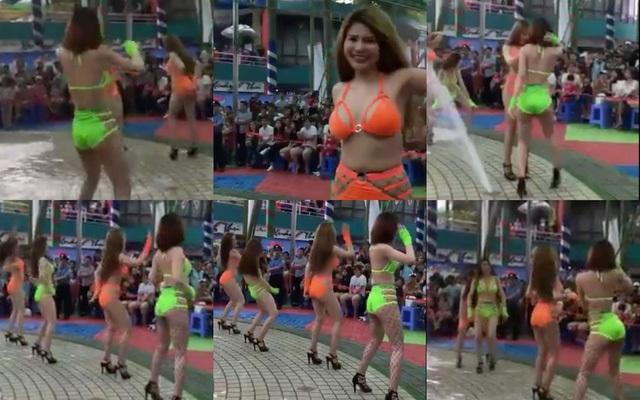 Chương trình nhảy của các vũ công trong trang phục bikini tại Công viên nước Đầm Sen ngày 4/6 gây bức xúc dư luận bị phạt hành chính 45 triệu đồng