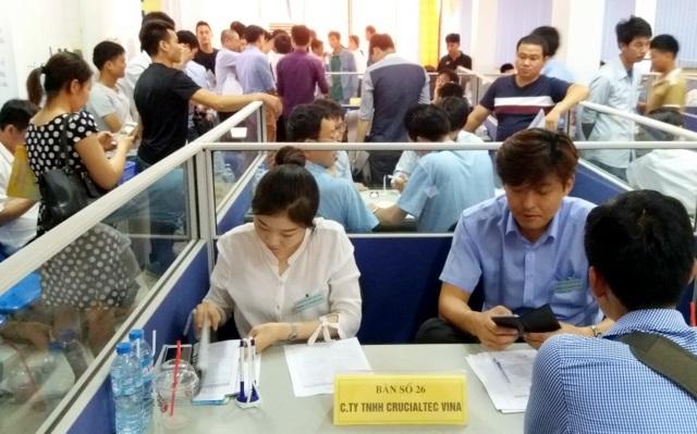 Phiên GDVL thu hút hàng trăm ứng viên là lao động VN hồi hương từ Hàn Quốc