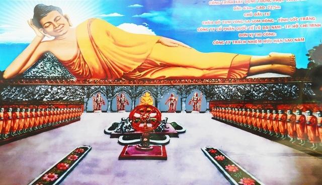 Phối cảnh tượng Phật Thích Ca sẽ được xây dựng tại chùa Som Rông ở Sóc Trăng.