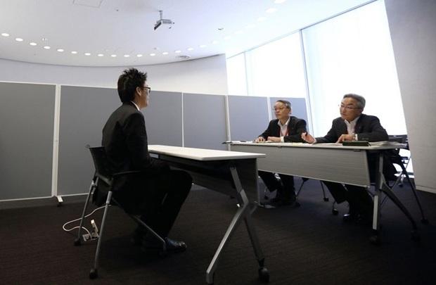 Một buổi phỏng vấn tuyển dụng ở Tokyo, Nhật Bản. Ảnh: Tomohiro Ohsumi/Bloomberg