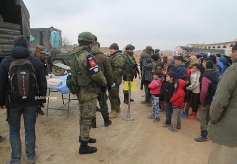 Các quân cảnh Nga ở thành phố Aleppo.