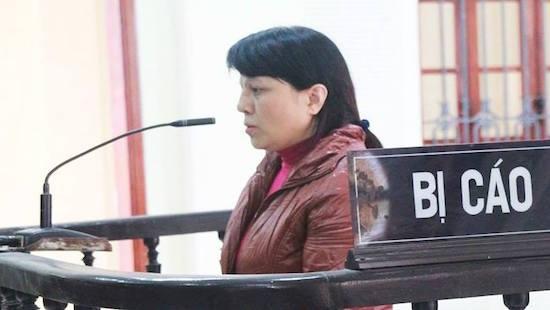 Bị cáo Hoàng Thị Đào tại phiên toà