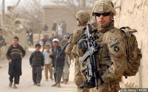 Một nhóm binh sĩ Mỹ tại Syria. Ảnh Lục quân Mỹ