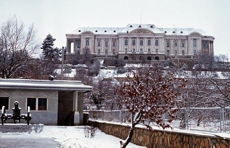 Cung điện Tajbeg, nơi diễn ra cuộc đột kích của Spetsnaz.