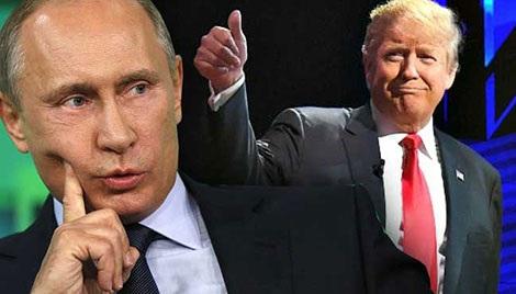 Tổng thống Nga Putin và Tổng thống đắc cử Mỹ Donald Trump.
