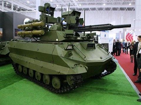Hệ thống robot chiến đấu Uran-9 của Nga