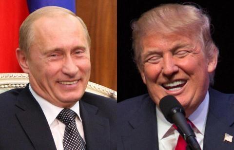 Sự thân thiện của bộ đôi Trump - Putin không định hình cho quan hệ Mỹ - Nga. Ảnh : The Boston Globe