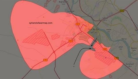 IS đã chia cắt thành công thành phố Deir Ezzor thành 2 nửa riêng biệt