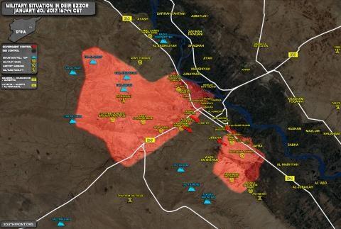 Bản đồ chiến sự tại Deir Ezzor