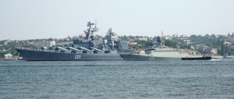 Một số tàu chiến của Hải quân Nga. (Ảnh: anews.com)