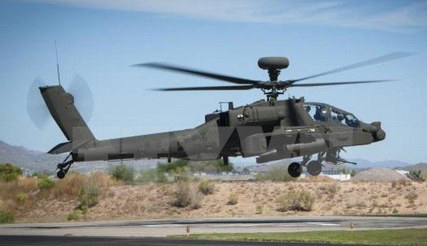 Máy bay lên thẳng phiên bản được nâng cấp mới nhất AH-64E Guardian. (Nguồn: Yonhap/TTXVN)