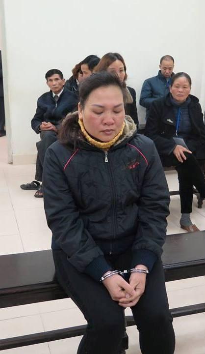 Bị cáo Huyền tại phiên tòa sơ thẩm