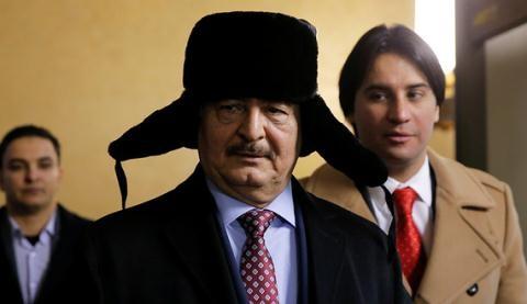 Tướng quân đội Libya Khalifa Hifter.