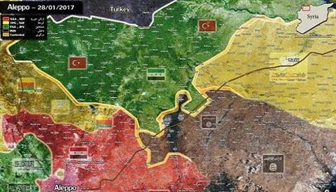 Quân đội Syria hiện mất quyền kiểm soát toàn bộ biên giới phía Bắc