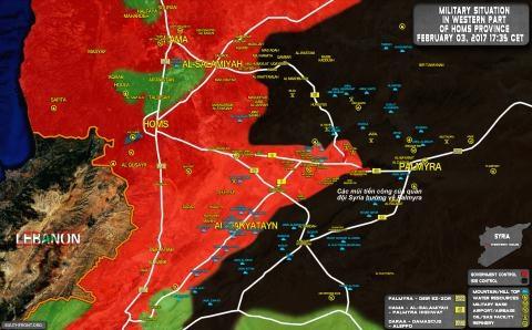 Mặt trận Palmyra ngày 3/2.